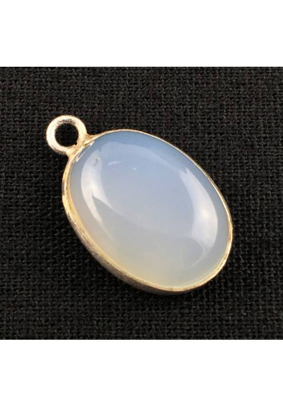 Special Pendant in Sky Blue AGATE Cabochon Necklace MINERALS Chakra Zen A+-1