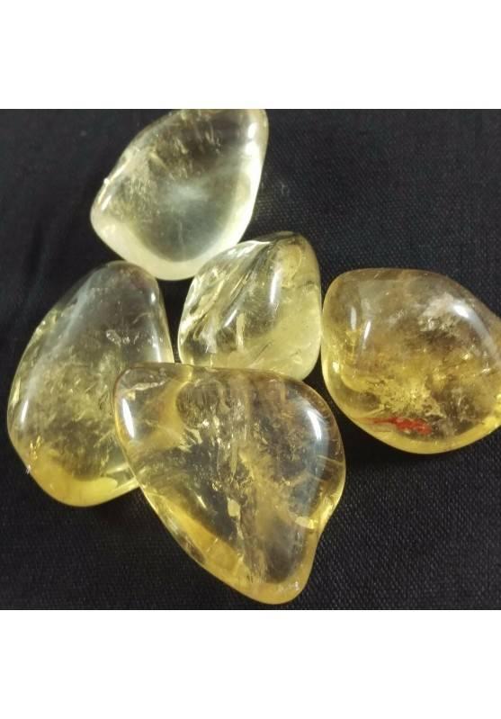 Authentic Smoked + CITRINE Quartz Tumbled Stone Specimen MINERALS RARE-1