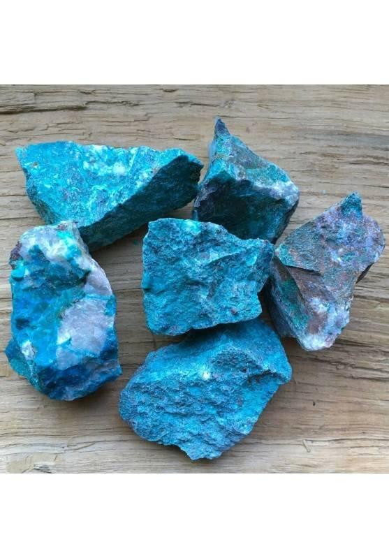 CRISOCOLLA GREZZO Silicati Minerale MEDIO Cristalloterapia Chakra Reiki A+-1