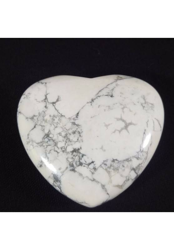 HEART in HOWLITE Rare Love Massage Crystal Healing Specimen Valentine's Day-1