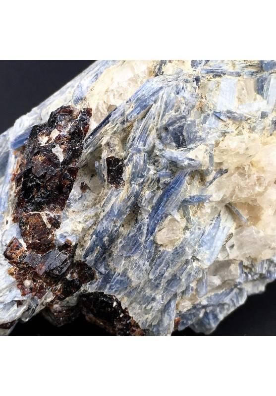 Raro Campione CIANITE con QUARZO e STAUROLITE Minerali GREZZO Cristalloterapia-4