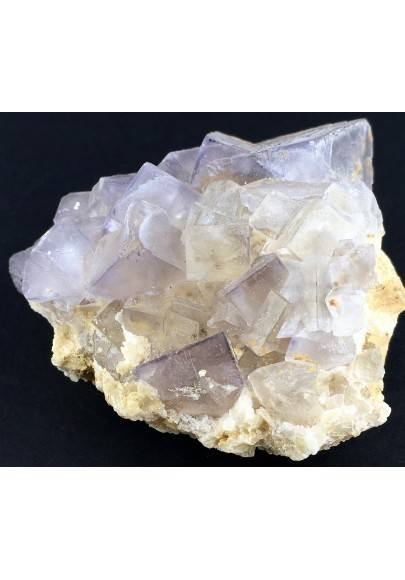 Wonderful Purple Fluorite Color Pure MINERALS Rough Crystal Healing Zen-1