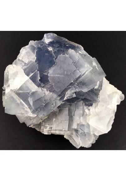 Stupenda FLUORITE Blu Trasparenza Minerali GREZZO Cristalloterapia Chakra Zen-1