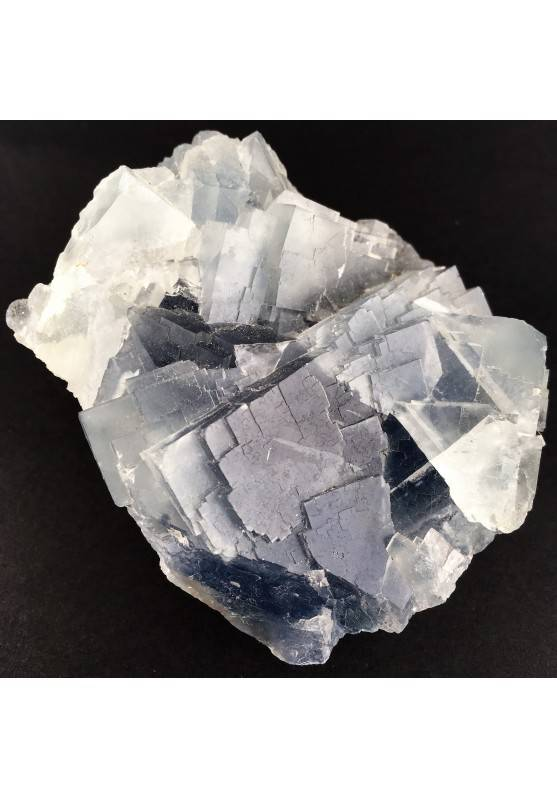 Stupenda FLUORITE Blu Trasparenza Minerali GREZZO Cristalloterapia Chakra Zen-3