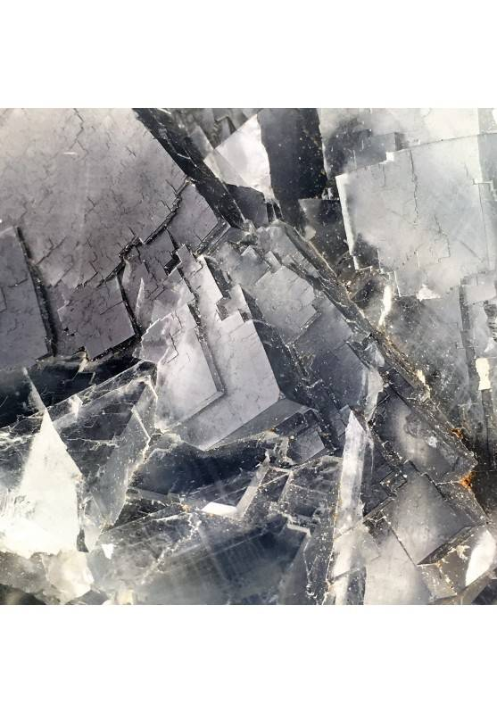 Stupenda FLUORITE Blu Trasparenza Minerali GREZZO Cristalloterapia Chakra Zen-4