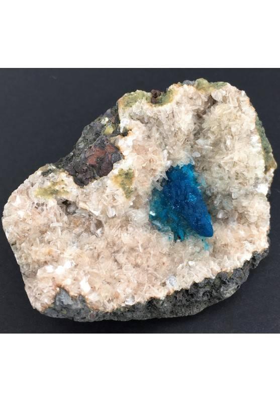 Preziosa GEMMA di CAVANSITE su Matrice Qualità Minerali GREZZO Cristalloterapia-1