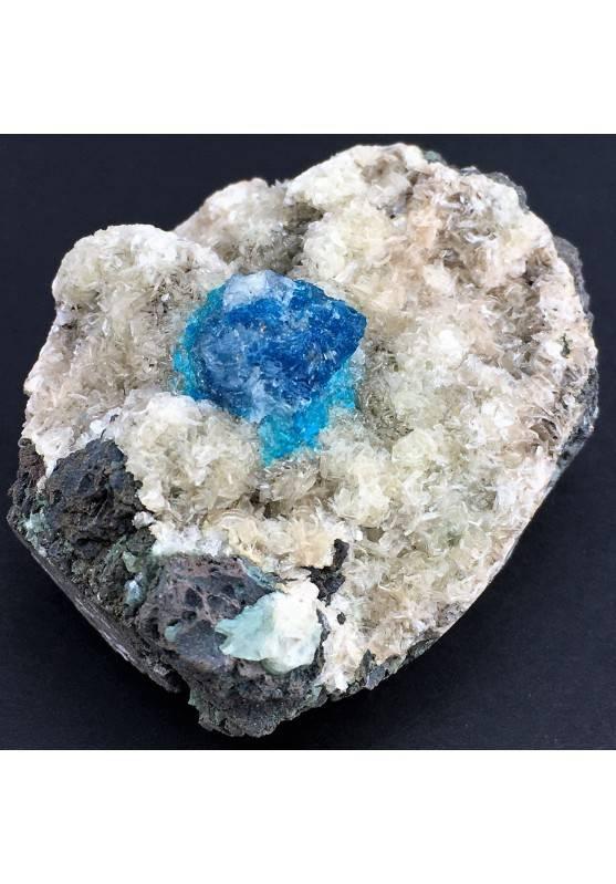 Preziosa GEMMA di CAVANSITE Matrice Alta Qualità Minerali Cristalloterapia Reiki-1