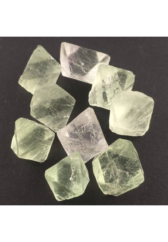 Rough Octahedron Fluorite Double PYRAMID Quartz Chakra Crystal Healing-1