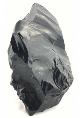 BIG Rough Volcanic Black OBSIDIAN Unpolished Raw Chunk Minerals Stone -2