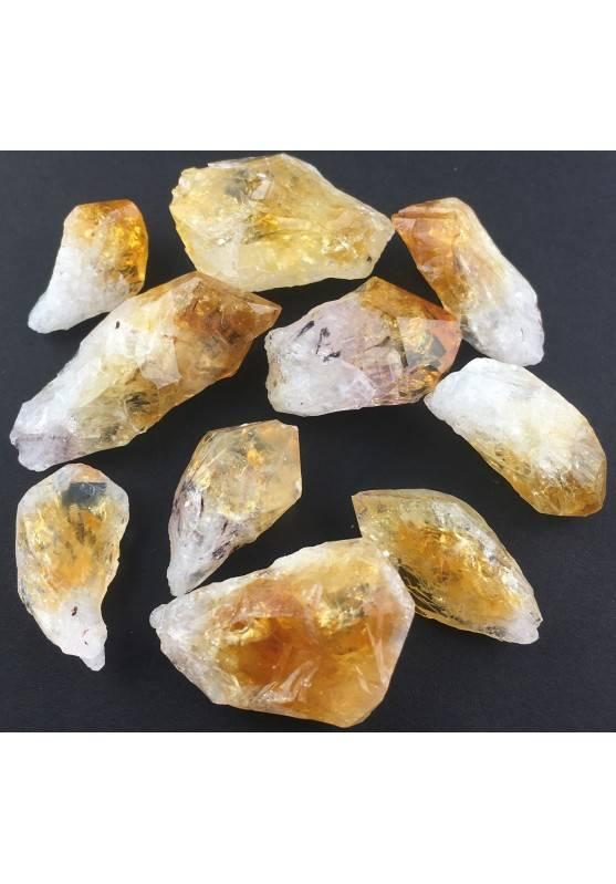 Quarzo Citrino Punta Grezza Cristallo Drusa Minerale Cristalloterapia e Gioielli-1