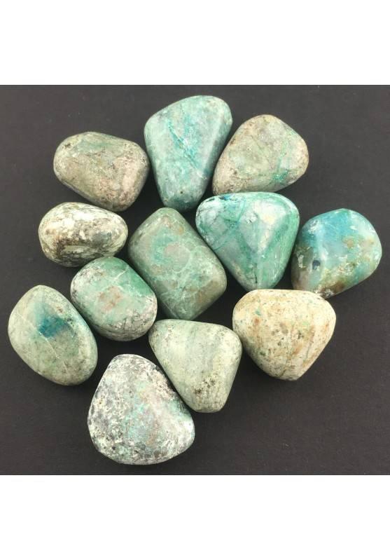 Crisocolla Burattata Cristalloterapia Minerali A+ [ Tumbled Chrysocolla Stone ]-1