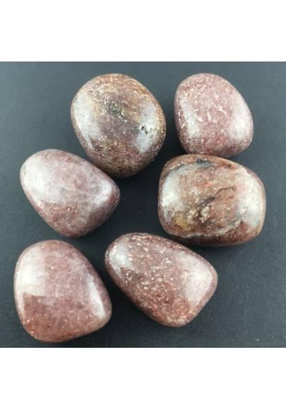 Red Lepidolite Tumble stone Crystal Healing Chakra A+[ Red Lepidolite Tumbled ]-1