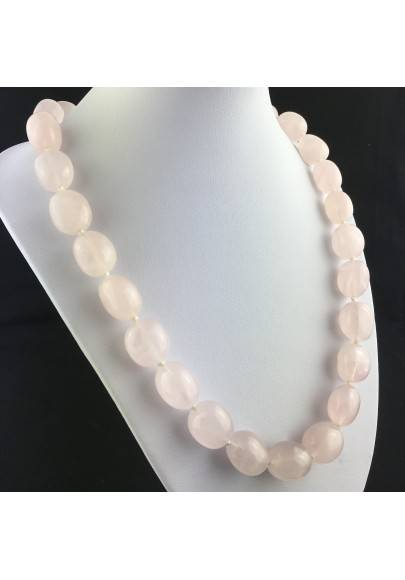 Rose Quartz Necklace PEARL - LIBRA TAURUS CAPRICORN Crystal Healing MINERALS-1