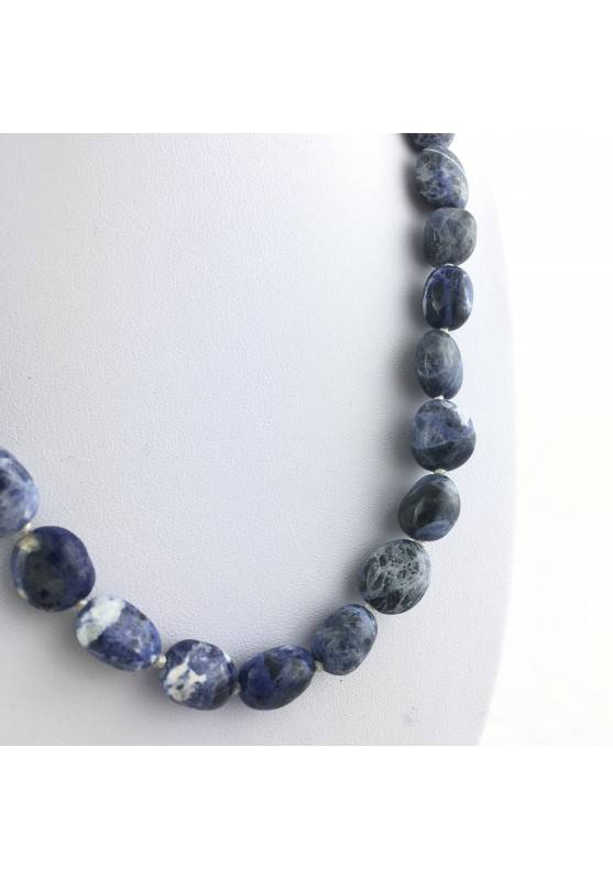 SODALITE Necklace PEARL - SAGITTARIUS MINERALS Crystal Healing Pendant Tumbled Stone-1