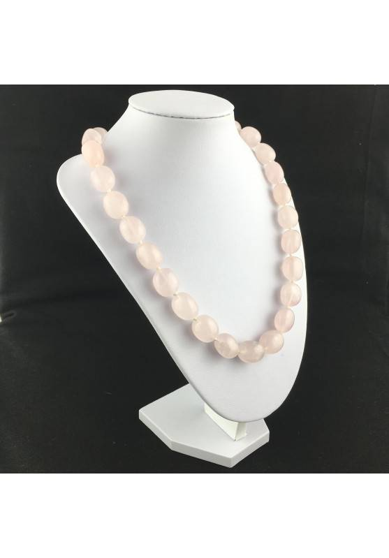Rose Quartz Necklace PEARL - LIBRA TAURUS CAPRICORN Crystal Healing MINERALS-4