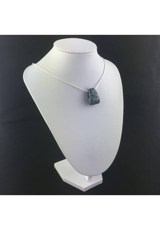 Snow Obsidian Pendant Bead VIRGO TAURUS Necklace Charm Charm-1