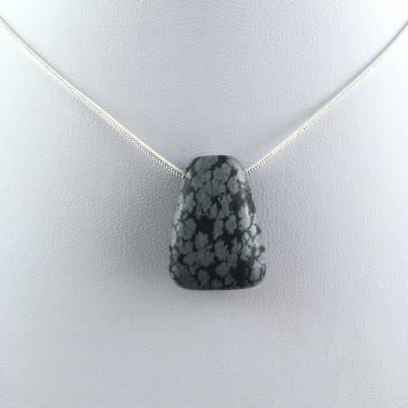 Snow Obsidian Pendant Bead VIRGO TAURUS Necklace Charm Charm-2