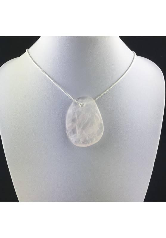 QUARZO ROSA Ciondolo Sfoglia - TORO BILANCIA CAPRICORNO Minerali Collana Chakra-2