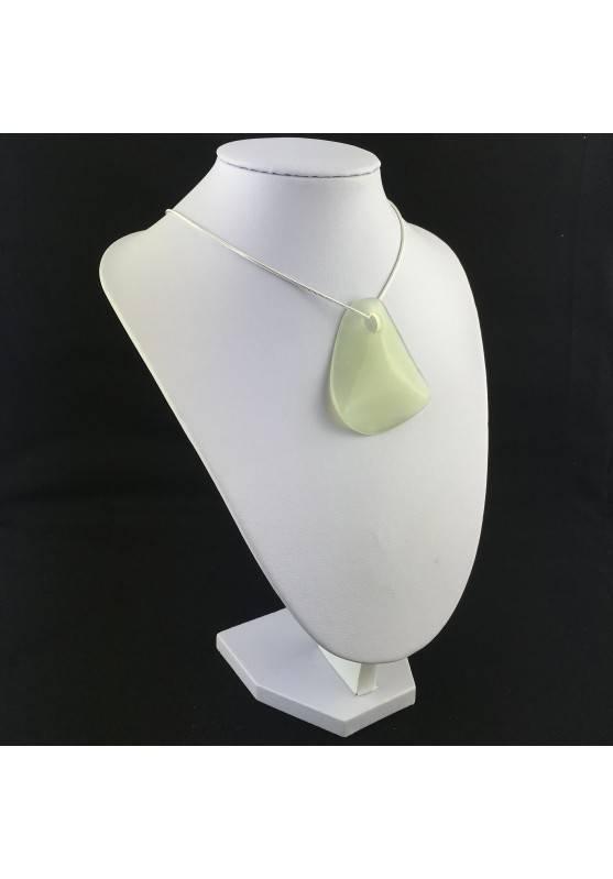 Sfoglia di Giada GRANDE Ciondolo Collana Cristalloterapia Chakra Feng Shui Charm-1