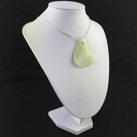 Leaf JADE Pendant Necklace BIG Crystal Healing Chakra Feng Shui Charm-1
