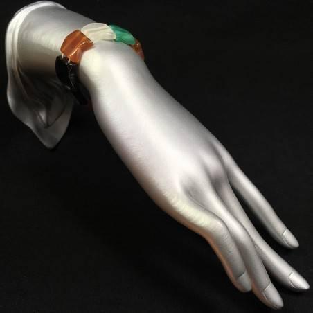 Bracciale in AGATA Nera , Bianca , Verde e CORNIOLA Braccialetto Agate Bracelet-1