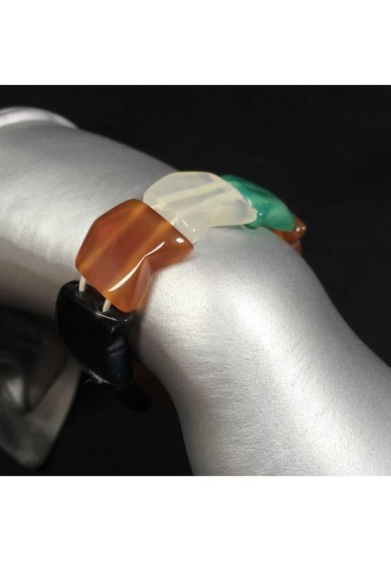 Bracelet in AGATE Nera , Bianca , Green & CARNELIAN Bracelettto Agate Bracelet-2