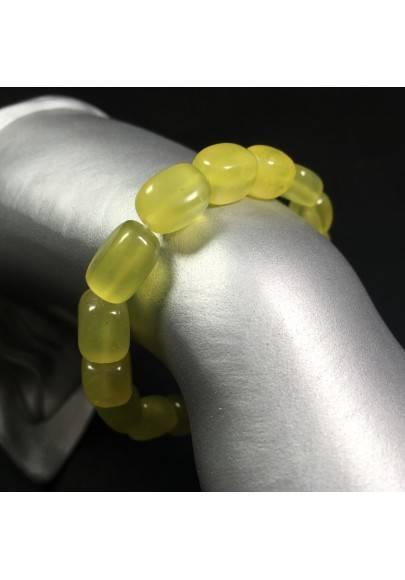 Natural OLIVINE - Peridot Bracelet Crystal Healing Minerals Tumblestone Serpentine-1