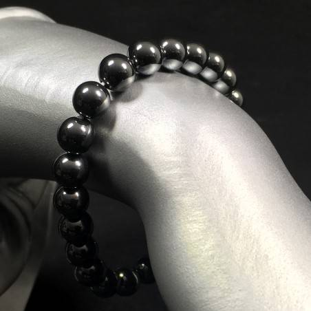 Hematite Spherical Beads Bracelet 9mm Sphere Jewels Unisex Hematite Bracelet-1