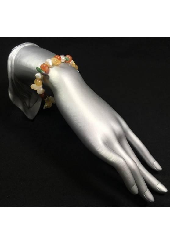 RUBY ZOISITE - Carnelian Citrine Quartz & PEARL Bracelet Beads Healing Stone-2