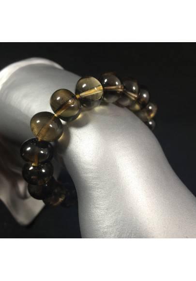 Bracelet in SMOKED QUARTZ Medium Size - CAPRICORN SAGITTARIUS Zodiac Zen A+-1