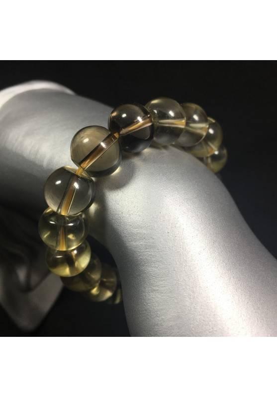 SMOKED QUARTZ Bracelet MINERALS Crystal Healing Chakra Reiki Zen A+-1