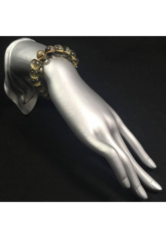 SMOKED QUARTZ Bracelet MINERALS Crystal Healing Chakra Reiki Zen A+-2