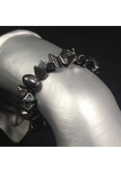 Bracelet in HHEMATITE Chips Crystal Healing - LEO SCORPIO A+-1