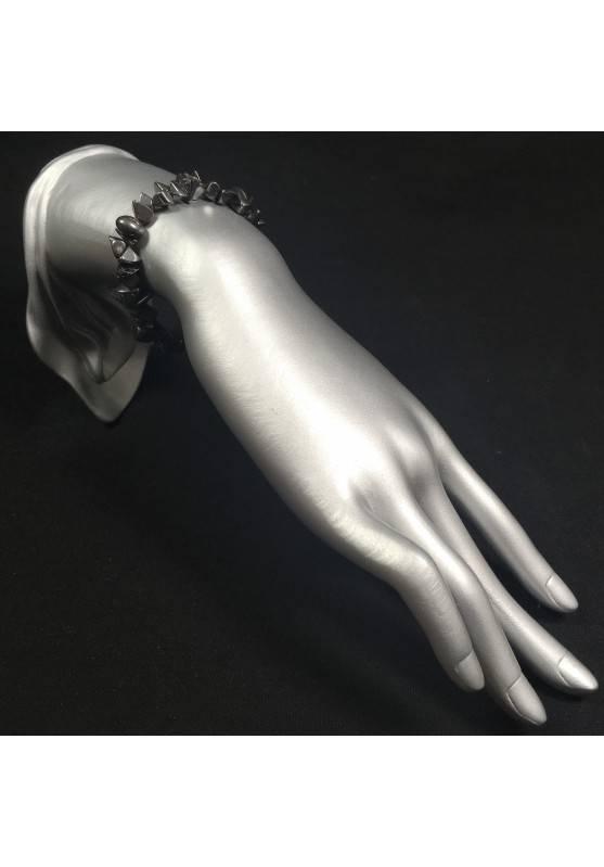 Bracelet in HHEMATITE Chips Crystal Healing - LEO SCORPIO A+-2