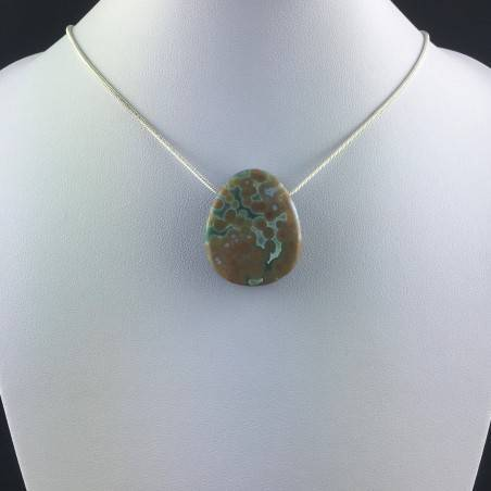 Pendant Special in Orbicolar Ocean JASPER Necklace Crystal Healing A+-4