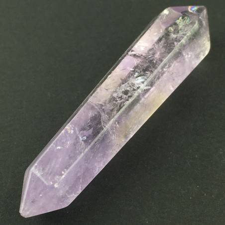 AMETHYST Crystal Double Point Polished Minerals Crystal Healing A+-1