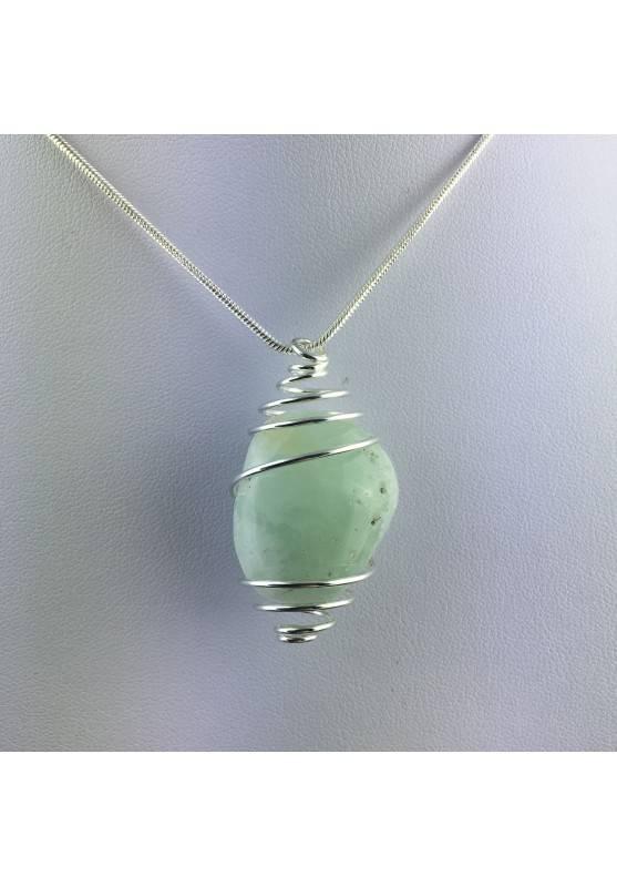 Green Fluorite Pendant - CAPRICORN Zodiac Silver Plated Spiral Necklace A+-3