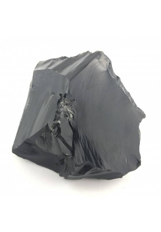 BIG Black OBSIDIAN Flame Chunk Volcanic High Quality From Mexico-1