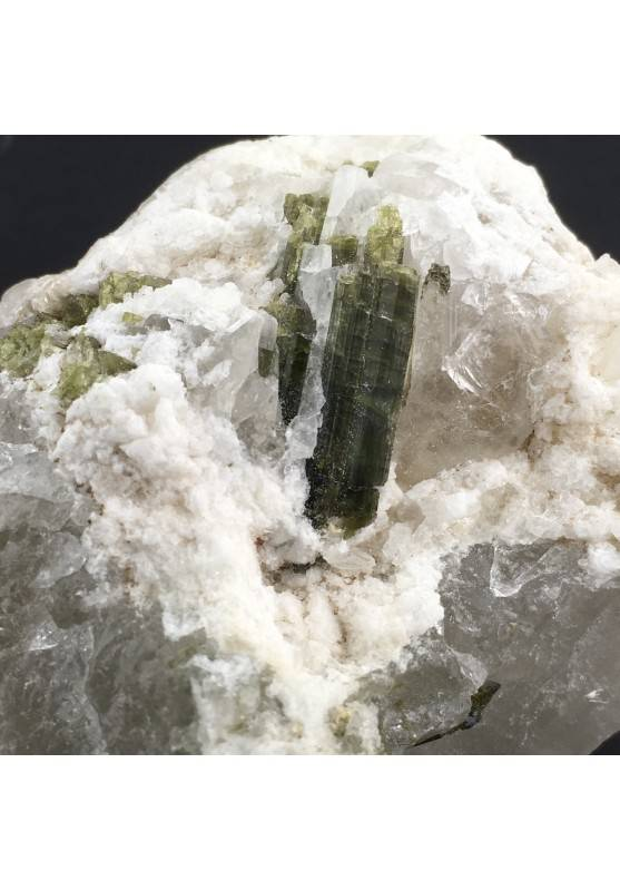 Green TOURMALINE Rough Beryl on Quarz MINERALS Specimen Crystal Healing-3