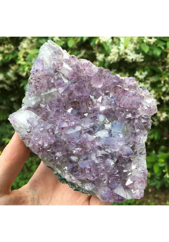Amethyst Druzy Violet Specimen of Brasil Crystal Rutilated High Quality-2