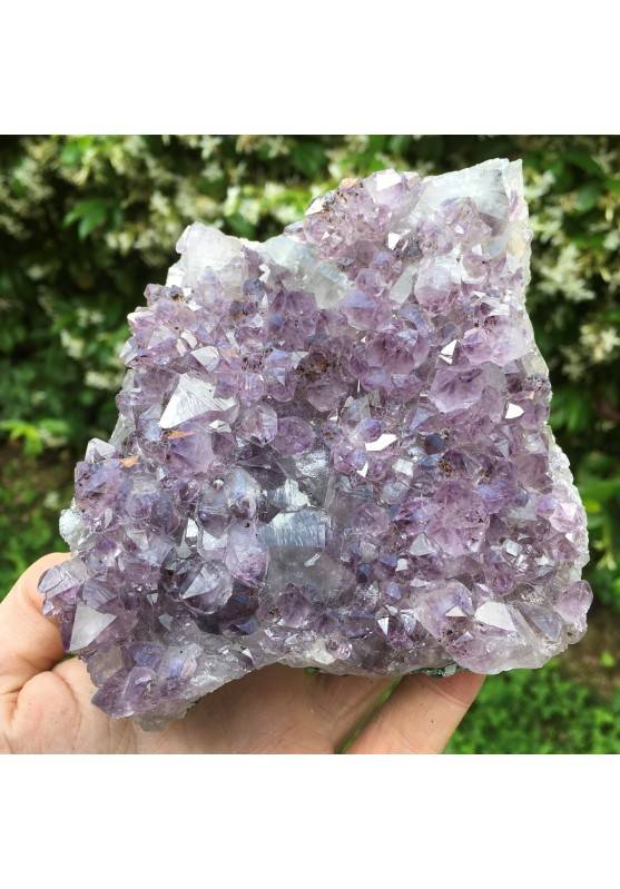 Amethyst Druzy Violet Specimen of Brasil Crystal Rutilated High Quality-1