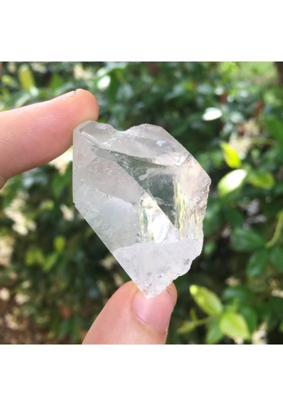 * MINERALI * Punta in QUARZO IALINO Cristallo di Rocca Grezzo 40g Cristalloterapia-1