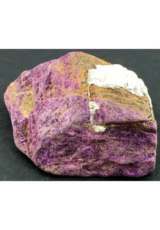 Rara PURPURITE GREZZA Grande Alta Qualità Minerale Viola Cristalloterapia-2