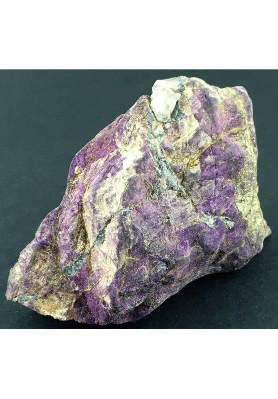Stupenda PURPURITE GREZZA Grande Alta Qualità Minerale Viola Cristalloterapia-2