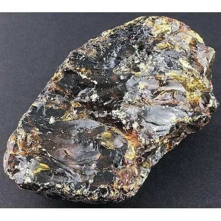 AMBRA del Messico GREZZA Grande Minerali Giallo Cristalloterapia Collezionismo-2