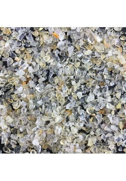 Granuli di QUARZO CITRINO 100g Burattati Minerali Cristalloterapia Qualità A+-1