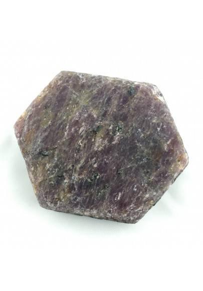 Stupenda fetta RUBINO GREZZO Esagonale Minerali Cristalloterapia Chakra Reiki-1
