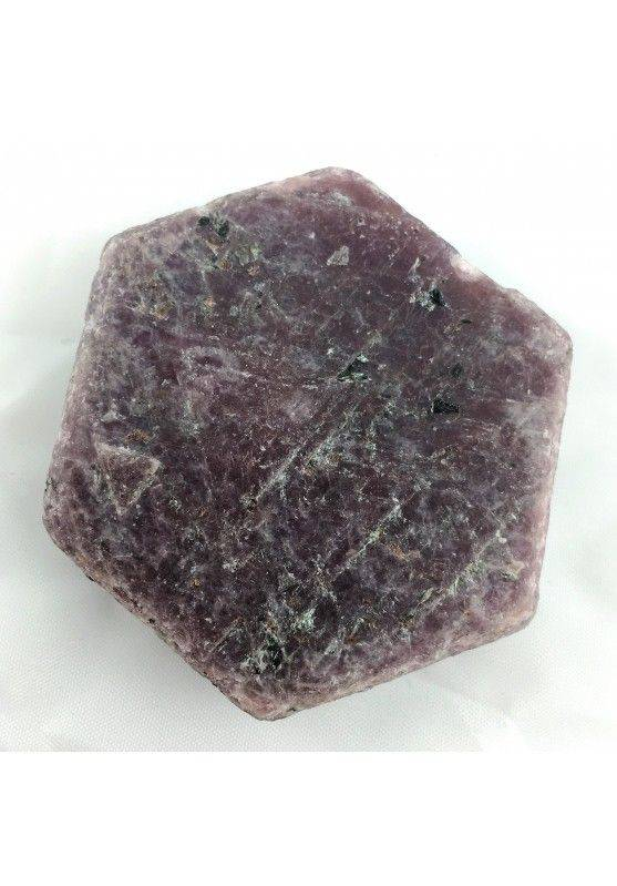 Stupenda fetta RUBINO GREZZO Esagonale Minerali Cristalloterapia Chakra Reiki-2