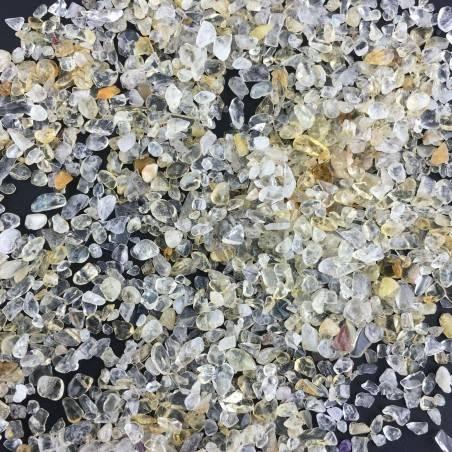 Granuli di QUARZO CITRINO 100g Burattati Minerali Cristalloterapia Qualità A+-2