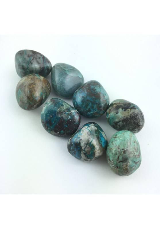 CHRYSOCOLLA Tumbled Medium High Quality Chakra Reiki Crystal Healing 10-15g A+-1